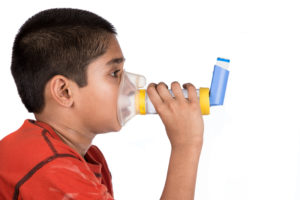 Correct Child Metered Dose Inhaler Use with Spacer