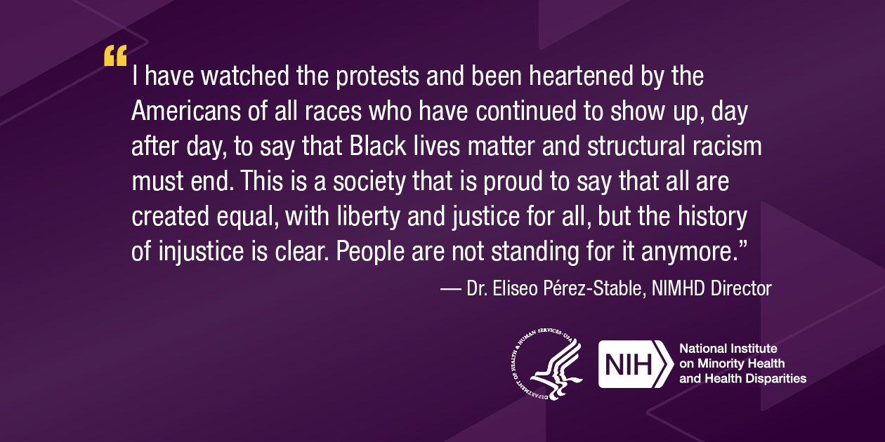 NIMHD Director's statement on racism and the health of every American