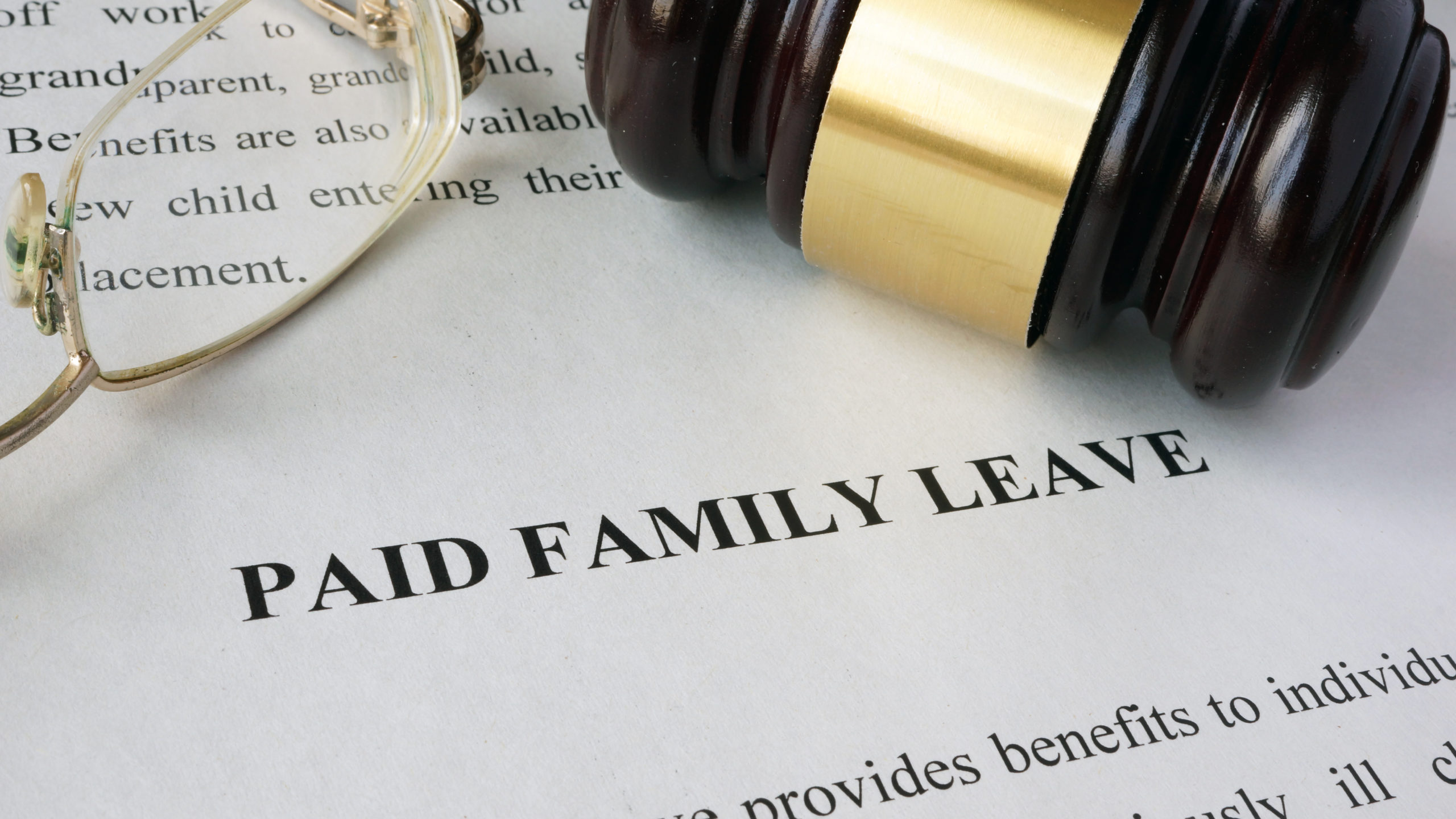 Stock image depicting paid family leave